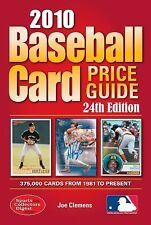 2010 Baseball Card Price Guide Value Reference by Joe Clemens 24th Edition
