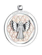 colgante ángel del amor Ángel de la guarda con flor de la vida angelsvoice PLATA