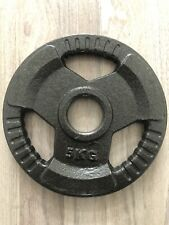5KG Olympic Solid Cast Iron Hammertone Weight Plate Weightlifting Gym Strength