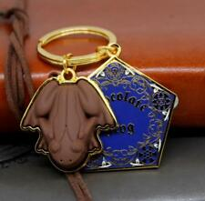 Harry Potter Chocolate Frog Key Chain Metal Pendant Keyrings Ornament Collection