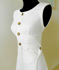 CHANEL LUXURY LINE MOST WANTED CAMELLIA SLEEVELESS OFF WHITE RARE PIECE $1800