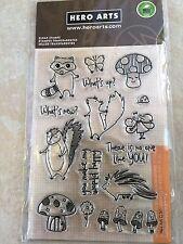 Hero Arts Woodland Creatures Animal Clear Acrylic Stamp Set MX261 NEW