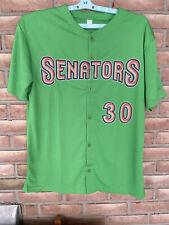 Harrisburg Senators Baseball Jersey Adult XL Bright Green #30