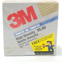 "3M 3.5"" Box of 10 Diskettes High Density DS, HD 1.44 MB New/Sealed NOS"