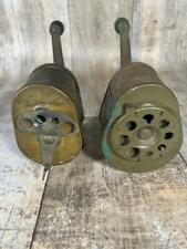 Vintage Boston Pencil Sharpeners Pair 8 Hole 4 Hole Model KS Free Shipping
