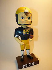 UNIVERSITY OF MICHIGAN WOLVERINES Football Bobblehead Bobble GO BLUE MAIZE BLUE
