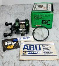 Rare Abu Garcia Ambassadeur 4500Cb Green Casting Reel Foot 85-0 Org. Box