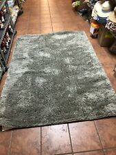 Mohawk Gray Shag/Flokati Single Colored Textured Area Deluxe Shag Rug Solid NEW
