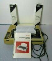 Tandy 26-1280 DMP-130 Dot Matrix Printer + 2 New Ribbon Cartridges [JSKA]