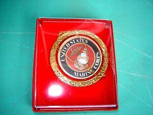 "USMC Lapel Pin United States Marine Corps Military Crest Insignia 3"" Clutch"