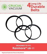 4 Durable Kenmore UB-11 UB11 Belts Fit Kenmore Upright Vacuums