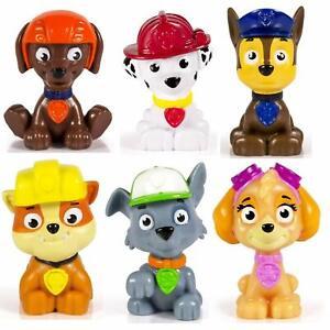 Paw Patrol Mini Figures Toy Set of 6 Rocky/ Zuma/ Skye/  Rubble/ Marshall/ Chase