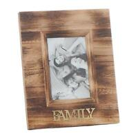 Family Gift - Weathered Vintage Style 6 x 4 Photo Frame Gold Lettering 61454