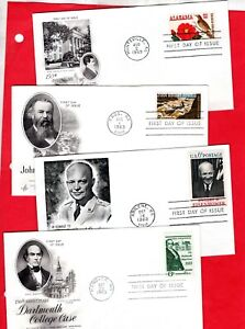 USA, Four First Day Covers   (1055