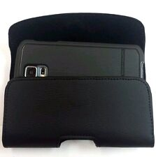 XL LEATHER  BELT CLIP HOLSTER FOR LG G3 FITS BODY GLOVE SHOCKSUIT CASE ON PHONE