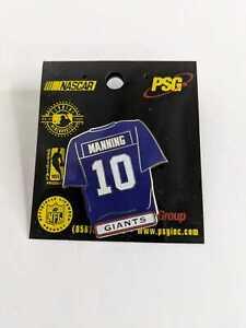 Vintage NFL New York Giants Eli Manning #10 Blue Jersey Pin