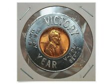 Wwii Victory Year 1945 Uncirculated Encased Wheat Penny Cent World War 2