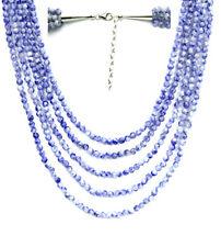 Adjustable multi-layered blue sodalite beads necklace