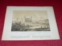 [POLOGNE] NAPOLEON ORDA LITHOGRAPHIE VUE DE CIECHANOW 1882 Chateau