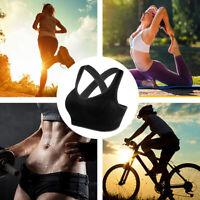 New Women Sports Bras Fitnisse Crossback Sports Bras Padded Seamless Gym Bras BY