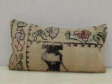 12'' X 20''  French Decor Woven Needlepoint Tapestry Aubusson Kilim Rug Pillow