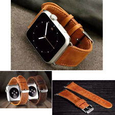 Vintage Cuir Bracelet De Montre Avec Connecteurs Pour Apple Watch 42Mm