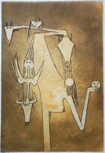 Wifredo Lam - Le monde magique de la fertilité, incisione 53,5x38 1982