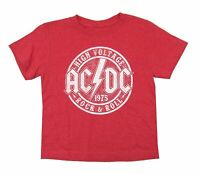 AC/DC High Voltage Logo 1975 Red Kids Toddler T Shirt New Official