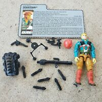 Gi Joe Figure 1989 Downtown complete with accessories and a file card