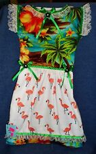 **NEW** Handmade Tropical Flamingoes Oven Door Dress Kitchen Hand Towel #647