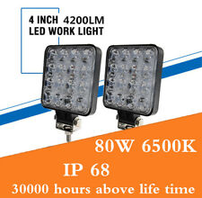 Pair 6500K 16LED Working Lights Spotlight For ATV SUV CAR TRUCK BOAT RV 4.5INCH