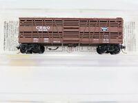 N Scale MTL Micro Trains 35130 CB&Q Burlington 40' Depatch Stock Car #52145 RTR