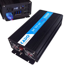 Pure Sine Wave Inverter 1500W Power Inverter 12V to 120V Off Grid LED Display