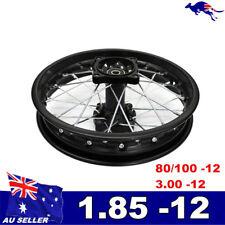 "12 mm Axle 1.85-12"" 80/100-12 Rear Rim for 70 110 125 cc off road Pit Dirt Bike"