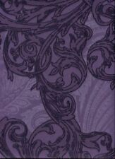 Purple / Lilac Metallic Floral Effect Paste the Wall Feature Wallpaper IC16513