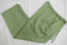 Tommy Bahama Women Sz 2 Pants Capri Crop Ankle Green Casual Silk Blend Pockets