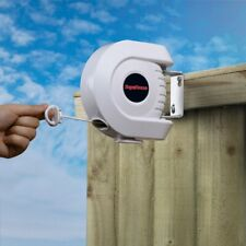 SupaHome Retractable Clothes Single Washing Drying Line - 15 Metres