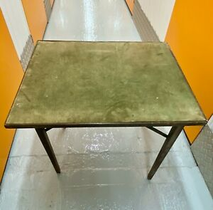 Vintage 1940s (?) Folding Green Baize Topped Card Table for Bridge/Poker/Whist..