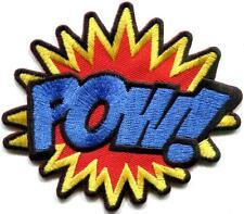 POW! superhero comics retro fun embroidered applique iron-on patch S-1191