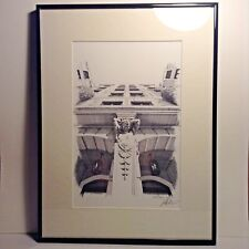 """Original Signed Lithographic Print """"Country Club Manor Column"""" by Jeff DiCicco"""