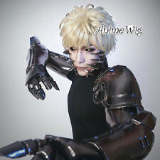 Anime for ONE PUNCH MAN Genos Light Blonde Short Hair Cosplay Wig Heat Resistant