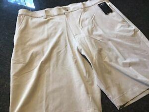 NWT - Mens CALLAWAY Khaki Golf Shorts (Size 38)