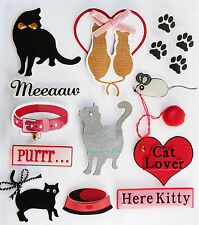 Paper Cellar 3D Cats Card Craft, Embelishment, Toppers, Adhesive, Stickers