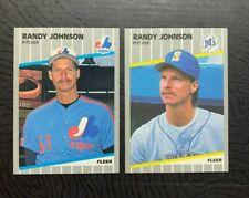 1989 Fleer⚾ RANDY JOHNSON COMBO RC #25 & #U-59, Expos& Mariners 🏆HOF'15 - NM/MT