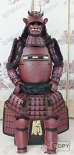 Fer et soie japonaise portable Rüstung Samurai armure rouge fantôme O001
