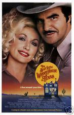 The best little whorehouse Burt Reynolds movie poster