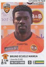 N°153 BRUNO ECUELE MANGA # GABON FC.LORIENT VIGNETTE STICKER  PANINI FOOT 2013