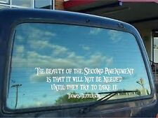 THOMAS JEFFERSON beauty of the second amendment wall vinyl lettering decal