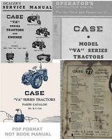 4 Manuals Case VA VAC VAO VAE VAH Tractors Service Operator's Parts Catalog CD