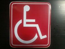 HANDICAP TOILET SIGN STICKER DECAL NONREFLECTIVE LIGHT RED FREE SHIPPING